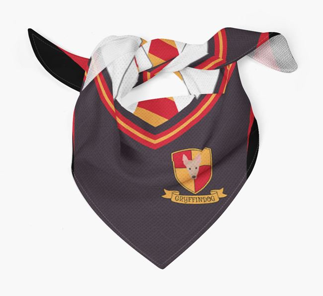 'Dogwarts' Bandana for your American Hairless Terrier