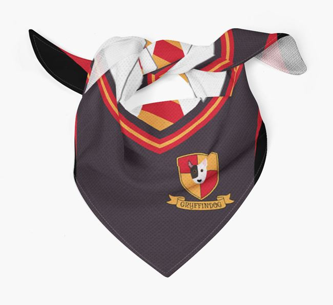 'Dogwarts' Bandana for your Miniature Bull Terrier
