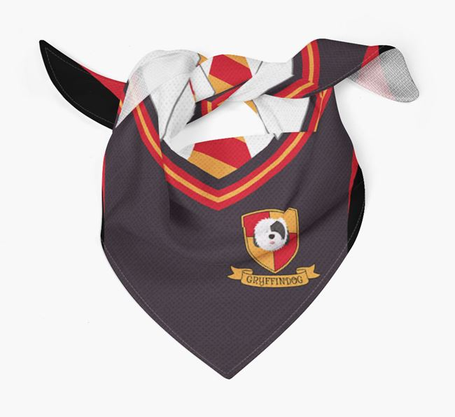 'Dogwarts' Bandana for your Old English Sheepdog