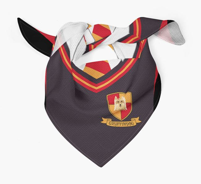 'Dogwarts' Bandana for your Yorkshire Terrier