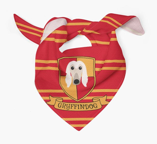 'Harry Pawter' Bandana for your Afghan Hound