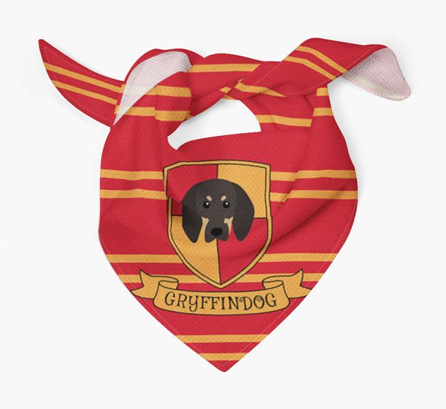 'Harry Pawter' Bandana for your Black and Tan Coonhound