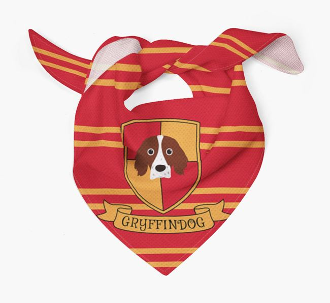 'Harry Pawter' Bandana for your Irish Red & White Setter