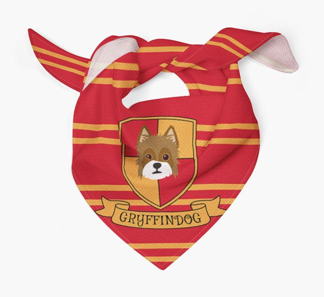 'Harry Pawter' Bandana for your Yorkie Russell