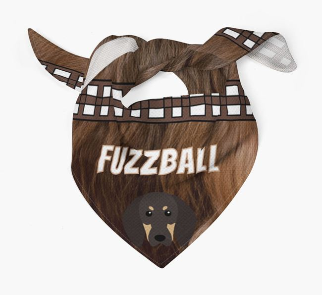 'Fuzzball' Bandana for your Black and Tan Coonhound