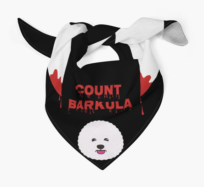'Count Barkula' Bandana for your Bichon Frise