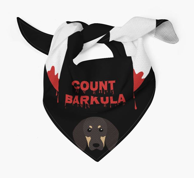 'Count Barkula' Bandana for your Black and Tan Coonhound