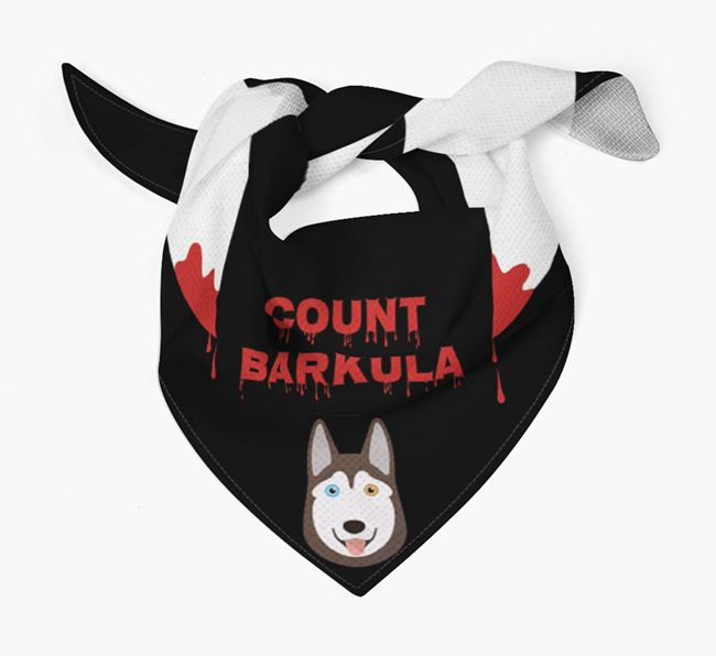 'Count Barkula' Bandana for your Siberian Husky