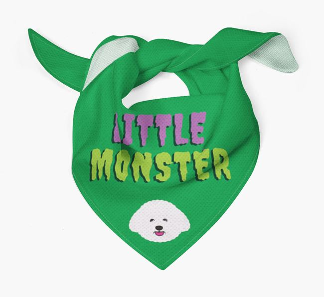 'Little Monster' Bandana for your Bichon Frise