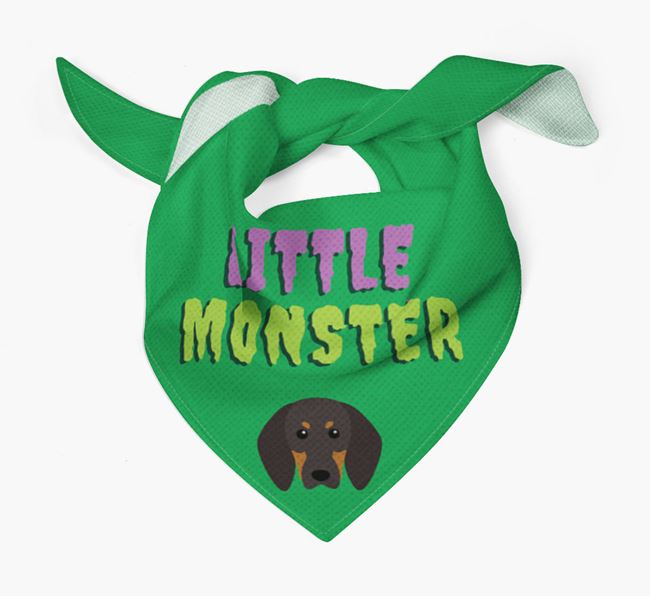 'Little Monster' Bandana for your Black and Tan Coonhound