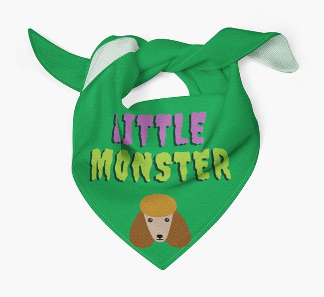'Little Monster' Bandana for your Poodle