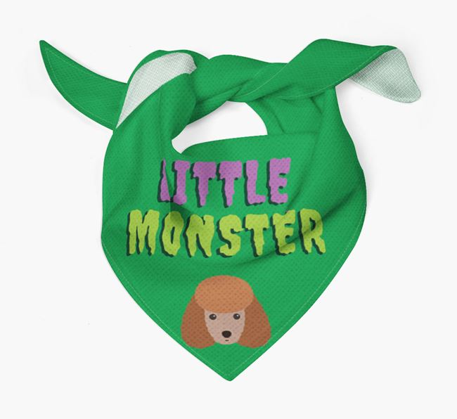 'Little Monster' Bandana for your Toy Poodle