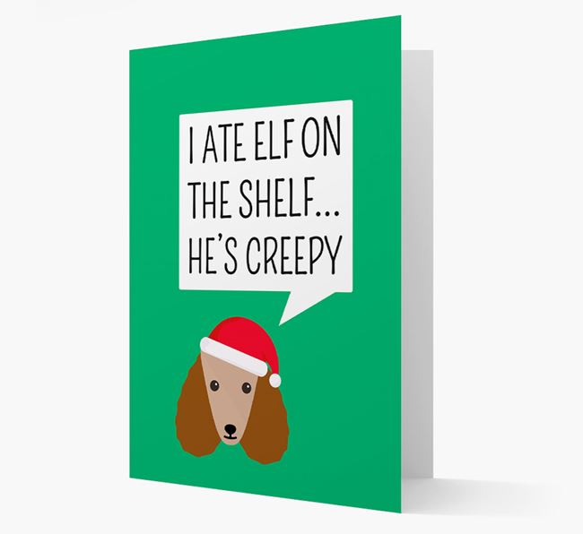 """""""I ate Elf on the Shelf' Card with your Poodle Christmas Icon"""