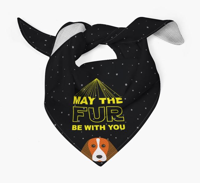 'May The Fur Be With You' Bandana for your Beagle