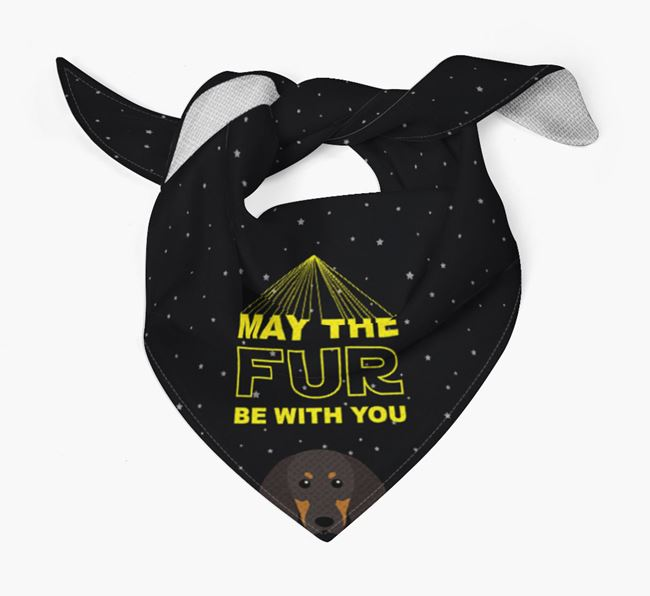 'May The Fur Be With You' Bandana for your Black and Tan Coonhound
