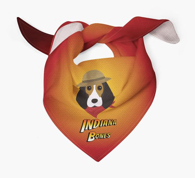 'Indiana Bones' Bandana for your Beagle