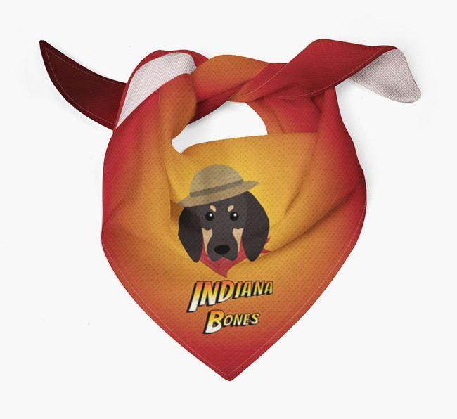 'Indiana Bones' Bandana for your Black and Tan Coonhound