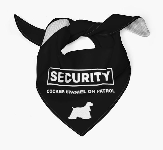 Personalised Security Bandana for your American Cocker Spaniel