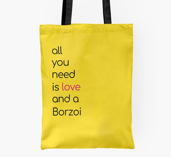 'All You Need Is Love and a Borzoi' Shopper Bag
