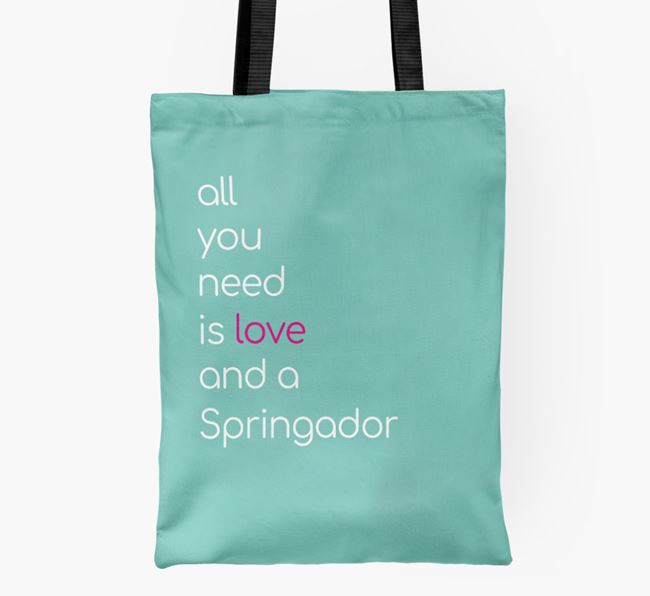 'All You Need Is Love and a Springador' Shopper Bag