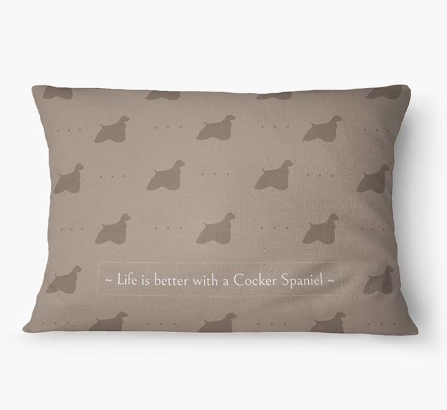 'Life Is Better With a Cocker Spaniel' Dog Bed