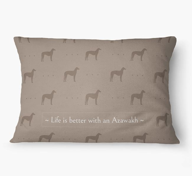 'Life Is Better With an Azawakh' Dog Bed