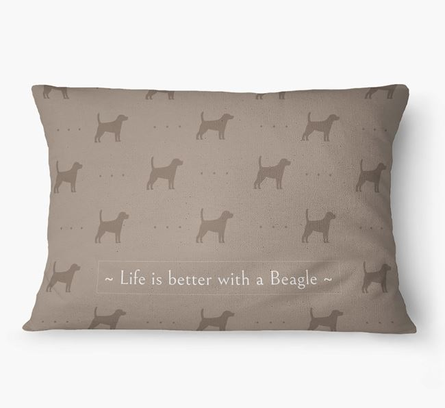 'Life Is Better With a Beagle' Dog Bed