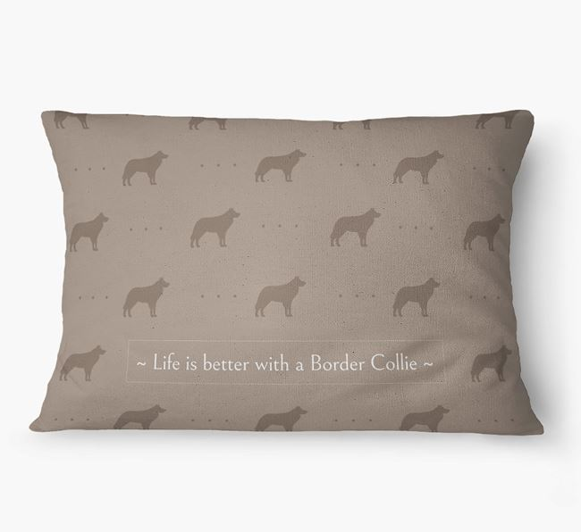'Life Is Better With a Border Collie' Dog Bed