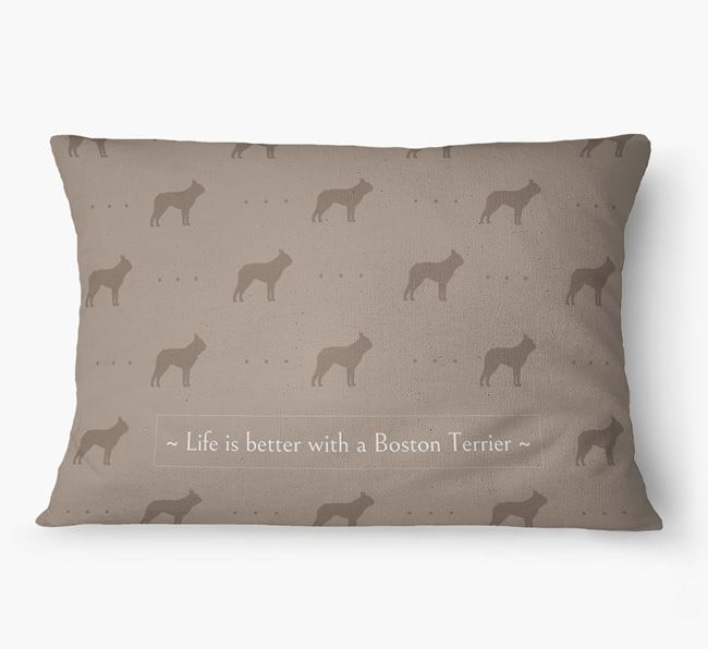 'Life Is Better With a Boston Terrier' Dog Bed