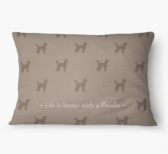'Life Is Better With a Poodle' Dog Bed