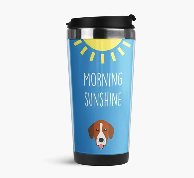 'Morning Sunshine' Travel Flask with Springador Icon