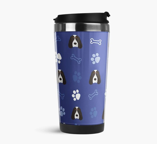 Travel Flask with Cocker Spaniel Icon Pattern