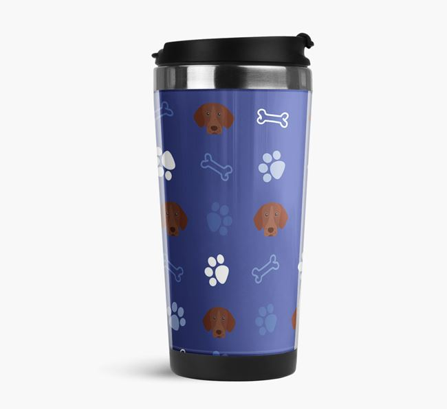 Travel Flask with German Shorthaired Pointer Icon Pattern