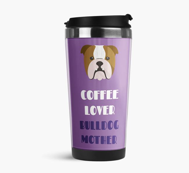 'Coffee Lover' Travel Flask with Dog Icon