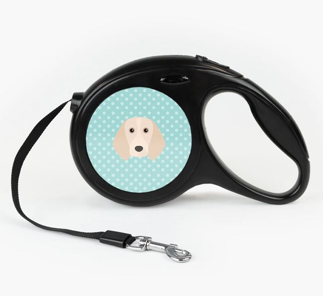 Retractable Lead with Spots and Beagle Icon