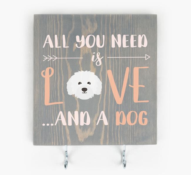 Wooden Sign 'All You Need Is Love...' with Bolognese Icon