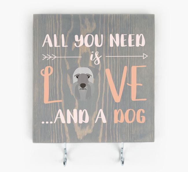 Wooden Sign 'All You Need Is Love...' with Cesky Terrier Icon