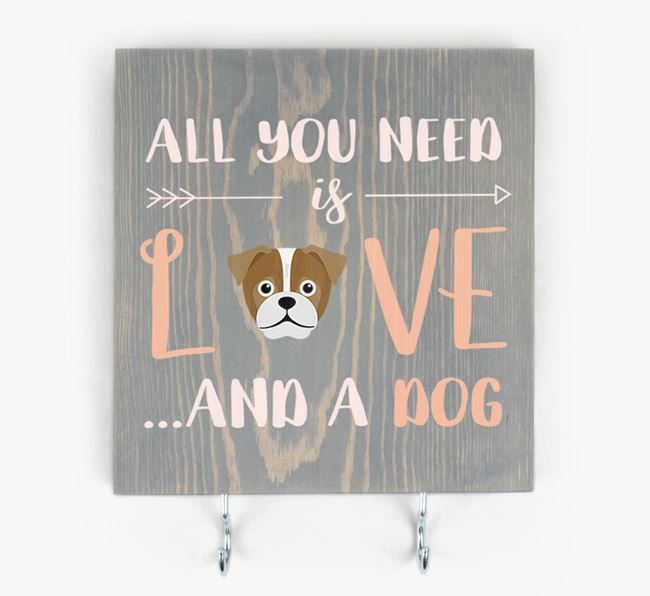 Wooden Sign 'All You Need Is Love...' with Jug Icon