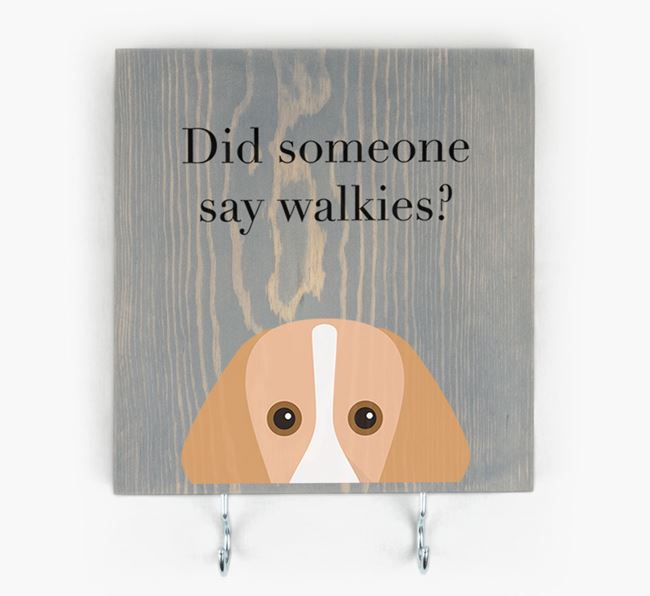 Wooden Sign 'Did someone say walkies?' with Foxhound Icon
