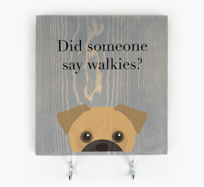Wooden Sign 'Did someone say walkies?' with Jug Icon