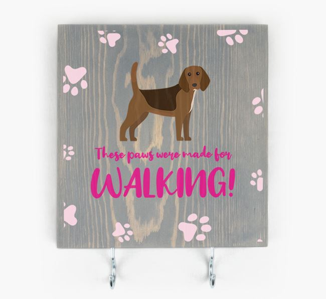 Wooden Sign 'Made for walking' with Beagle Icon
