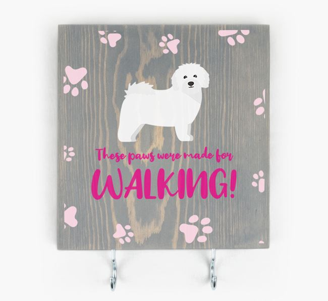 Wooden Sign 'Made for walking' with Bolognese Icon