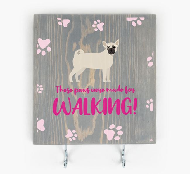 Wooden Sign 'Made for walking' with Chug Icon
