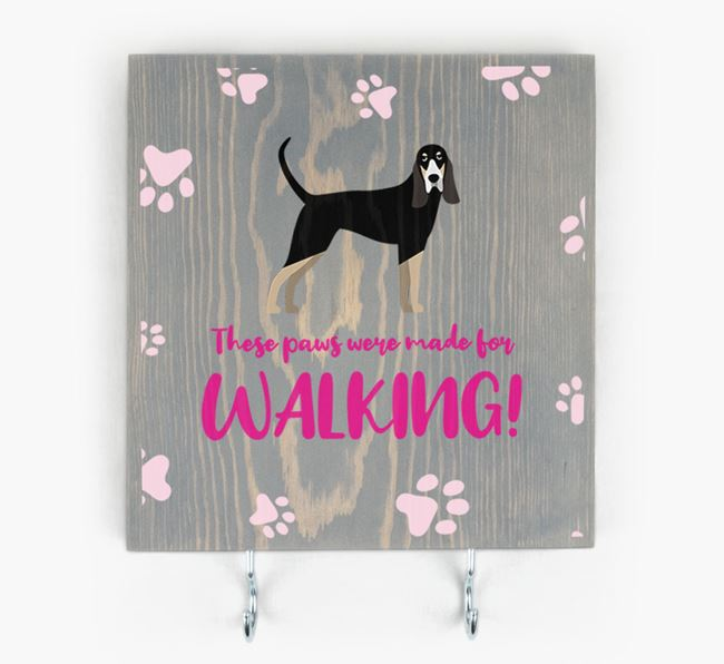 Wooden Sign 'Made for walking' with Grand Bleu De Gascogne Icon