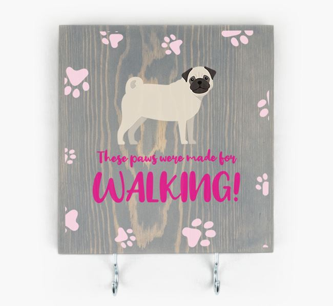 Wooden Sign 'Made for walking' with Dog Icon