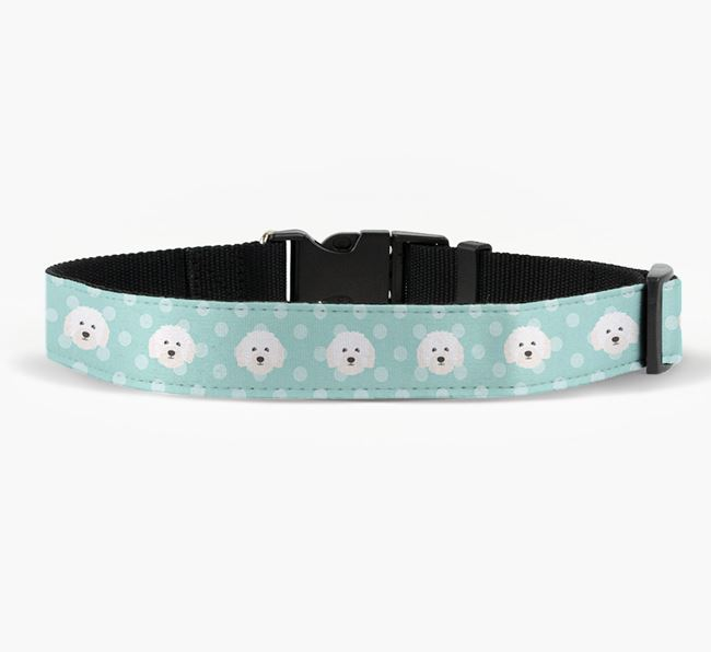 Fabric Collar with Spots and Bolognese Icon