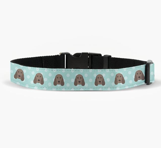 Fabric Collar with Spots and Cocker Spaniel Icon