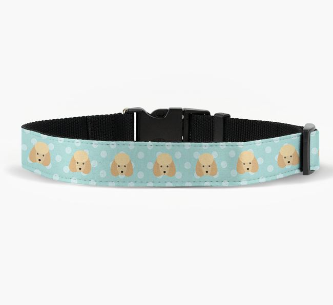 Fabric Collar with Spots and Miniature Poodle Icon