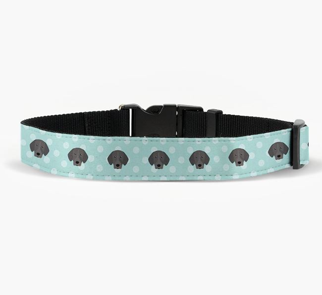 Fabric Collar with Spots and Pointer Icon