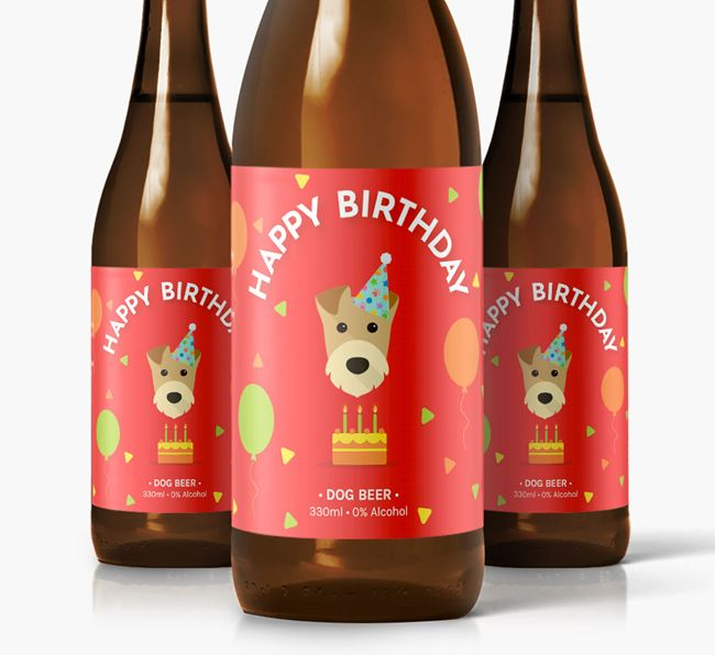 Airedale Birthday Dog Beer